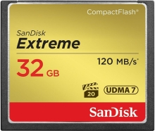 SanDisk Extreme CompactFlash (CF) 32GB (120 MB/s)