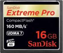 SanDisk Extreme PRO CompactFlash (CF) 16GB (160 MB/s)